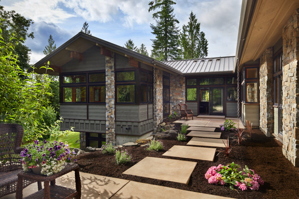 Redmond architect Scott Hommas designed this Redmond custom home with an eye to the natural beauty around it.